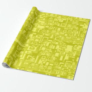 Papier Cadeau Art abstrait géométrique jaune concentrique