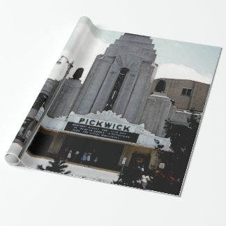 Papier Cadeau Art d'aquarelle de Ridge de parc de théâtre de
