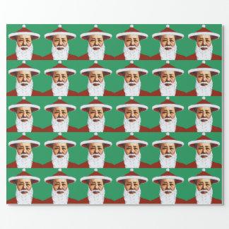 Papier Cadeau Art de bruit chinois de Joyeux Noël de Mao le père
