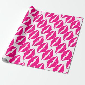 Papier Cadeau Art de bruit rose de valentine de rouge à lèvres