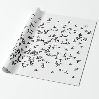 Papier Cadeau Art de chasse de canard de canards en vol -
