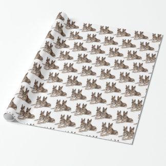 Papier Cadeau Art de chien de berger allemand