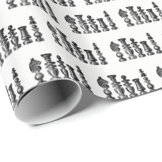 Papier Cadeau Art de cru de pièces d'échecs