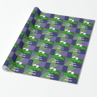 Papier Cadeau Art drôle d'alligator