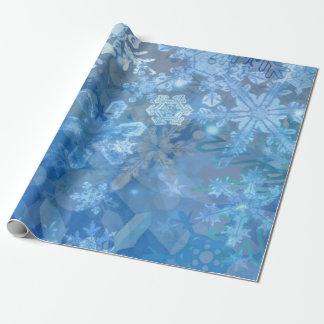 Papier Cadeau Art numérique de tempête de flocon de neige