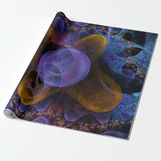 Papier Cadeau Art numérique psychédélique de rêves vifs