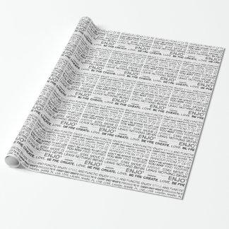 Papier Cadeau Articles de cadeau pour le campeur inspiré heureux