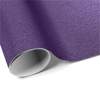 Papier Cadeau Aubergine pourpre ultra-violette minimale