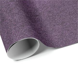Papier Cadeau Aubergine pourpre ultra-violette minimale de mauve