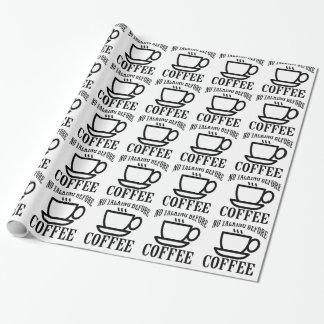 Papier Cadeau Aucun parler avant café.