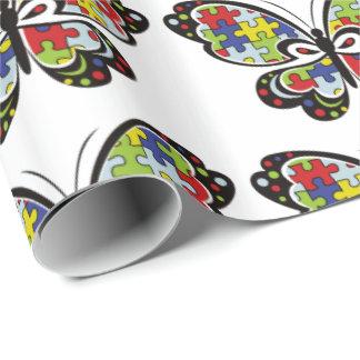 Papier Cadeau Autism Awareness Butterfly