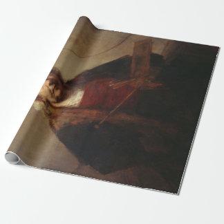 Papier Cadeau Autoportrait de Rembrandt avec deux cercles