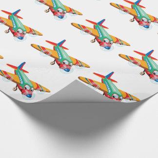 Papier Cadeau avion de bande dessinée