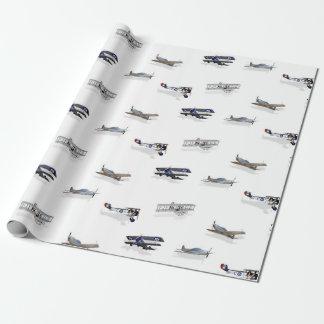Papier Cadeau Avions vintages de vol