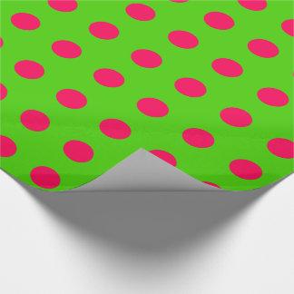 Papier Cadeau Ayez le pois de rose de Noël d'amusement sur le
