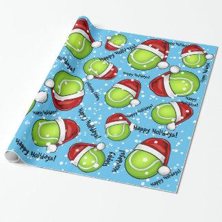 Papier Cadeau Balle de tennis de style de Noël