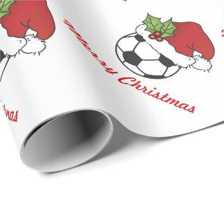 Papier Cadeau Ballon de football de Noël