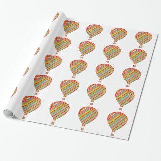 Papier Cadeau Ballons ARTISTIQUES de rayures de couleur intense