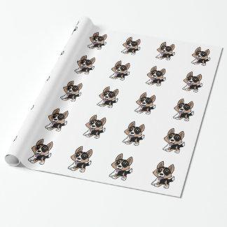 Papier Cadeau bande dessinée de corgi de gallois de cardigan