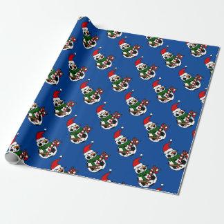 Papier Cadeau Bande dessinée drôle de Noël de bonhomme de neige