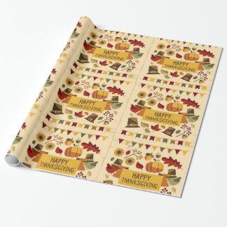 Papier Cadeau Bannière de bon thanksgiving