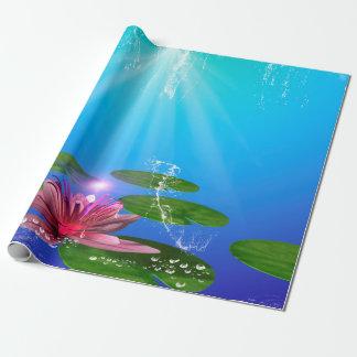 Papier Cadeau Beau nénuphar avec l'éclaboussure de l'eau