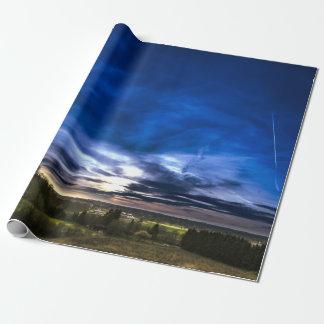 Papier Cadeau Beau paysage avec le coucher du soleil