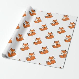 Papier Cadeau Beau renard rouge