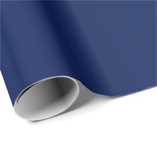 Papier Cadeau Beau satin simple de bleu marine de Sheen