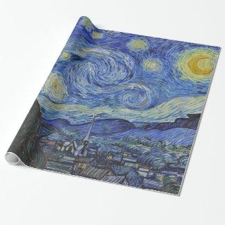 Papier Cadeau Beaux-arts de GalleryHD de nuit étoilée de Vincent