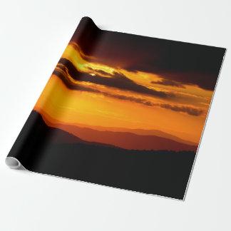 Papier Cadeau Belle photo de coucher du soleil