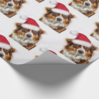 Papier Cadeau Berger australien dans Noël de casquette de Père