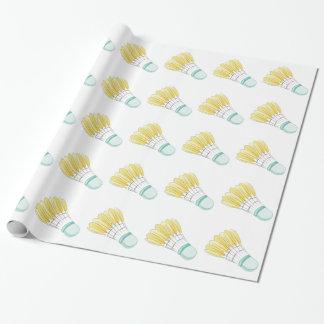Papier Cadeau Birdie de badminton