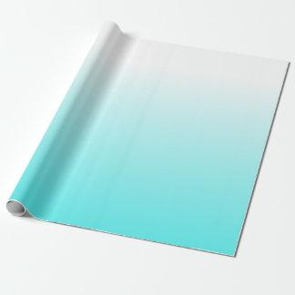 Papier Cadeau Blanc coloré audacieux au gradient bleu d'Ombre