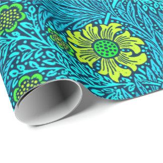 Papier Cadeau Bleu de souci, de turquoise et de cobalt de