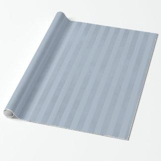 Papier Cadeau Bleu en acier léger chiné rayé chic