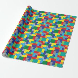 Papier Cadeau Blocs constitutifs de briques de jouet