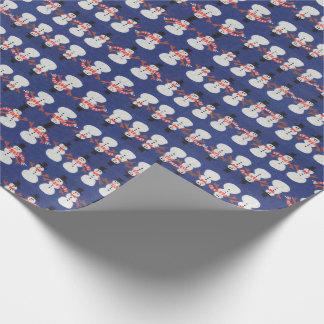 Papier Cadeau Bonhomme de neige de papier de Noël d'emballage