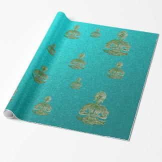 Papier Cadeau Bouddha dans le bleu