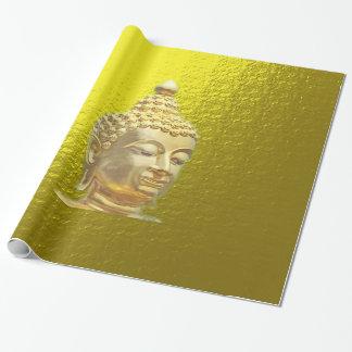 Papier Cadeau Bouddha en or