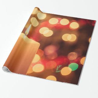 Papier Cadeau Bougie de Noël
