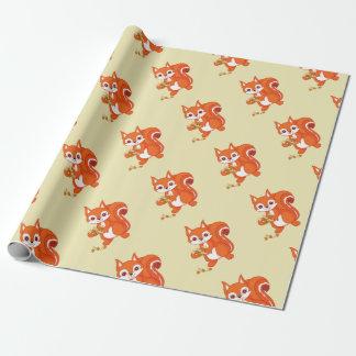 Papier Cadeau Bouillonne l'écureuil utile