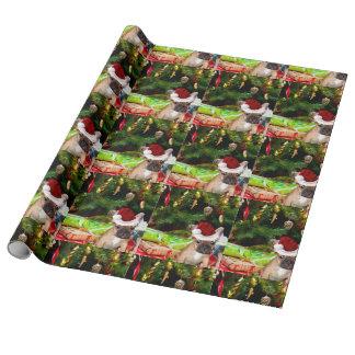 Papier Cadeau Bouledogue français de Noël