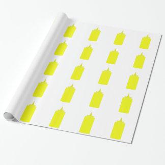 Papier Cadeau Bouteille de moutarde