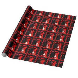 Papier Cadeau Boxeur en rouge