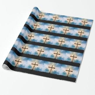 Papier Cadeau briller croisé de Jésus