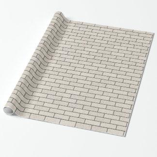 Papier Cadeau Briques blanches