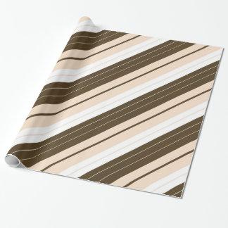 Papier Cadeau Brown, blanc, et enveloppe de cadeau rayée
