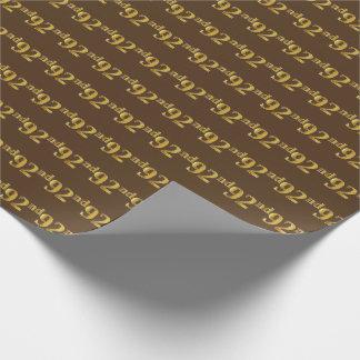 Papier Cadeau Brown, événement d'or quatre-vingt-douzième de