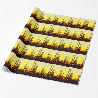 Papier Cadeau Cactus Arizona de Saguaro de coucher du soleil